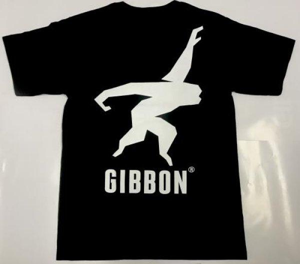 画像2: t-シャツ GIBBON JAPAN LOGO (BLACK)