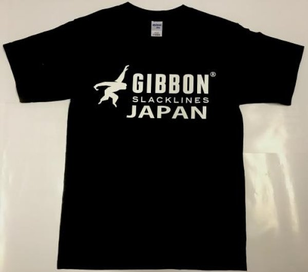 画像1: t-シャツ GIBBON JAPAN LOGO (BLACK)